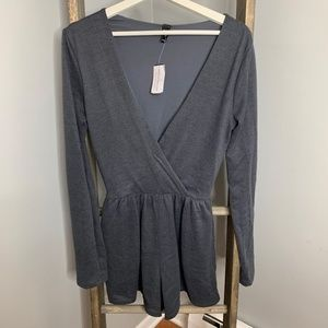 WIndsor Gray Sweater Mini Dress